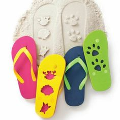 Avon Canada  Too cute to miss! Kids will love leaving sea shell shapes and paw prints in the sand with our fun flip flops