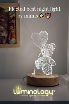 3D ILLUSION TEDDY BEAR #LAMP✨🐻 . . The #3dillusion bear #lamp is the perfect #3dlamp for decorating your #kid's #room. Buy directly on our website. It has never been so easy to buy the ideal gift for Christmas. . . 3D ILLUSION #LAMPE OURSON✨🐻 . . La lampe # 3dillusion est la #lampe3d parfaite pour décorer la #chambre de votre #enfant. Achetez-le directement sur notre site Internet. Il n'a jamais été aussi facile d'acheter le #cadeau idéal pour #Noël. . . Lampe 3d, Best Night Light, Site Internet, Lighting Solutions, Illusions, Teddy Bear, Gift Ideas, Make It Yourself, Studio
