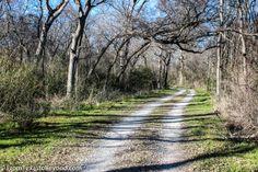 Hiking at Ray Roberts Lake State Park outside of Denton, TX
