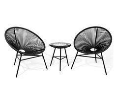 Židle a stolek na balkon ACAPULCO | beliani.cz