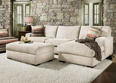Meade Cream 2Pc. Sectional Looks cozy