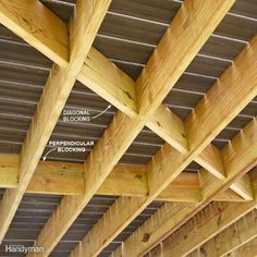 Manufactured Decking Isn T As Stiff As Wood Decking So It Allows Joists To Bow And That Leads To A Wavy Deck Surface To Building A Deck Modern Deck Diy Deck