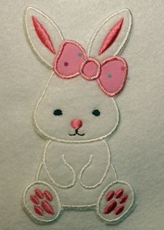 Bunny Patch Easter Bunny Applique by SugarGroveEmbroidery on Etsy