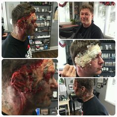 Special Effects Makeup, Gore makeup, bloody makeup, bruised makeup, Pro Soto Beauty Studios