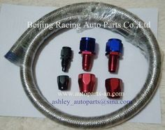 Oil cooler hose, AN4, AN6, AN8, AN10, AN12 Fittings, stainless steel cover hose, Racing Auto Parts