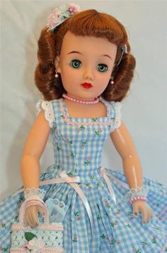 "Redhead SWEETIE! Ideal Miss REVLON vt-18 Vintage 50's 18"" Fashion Doll Cissy pal"