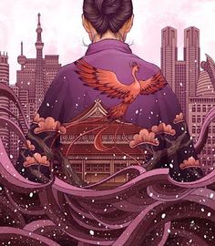 Yuta Onoda is a Japanese illustrator based in Canada, who combines traditional Japanese artwork with mythology, using both traditional and digital mediums.