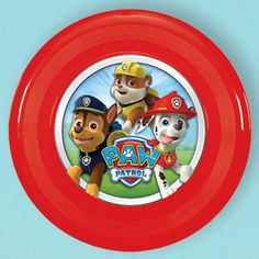Fill the sky with these red Paw Patrol mini flying discs. Each disk is 4 inches and has a fun picture of the Paw Patrol.