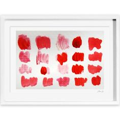 Oliver Gal Artana That Shade of Red Framed Painting Print