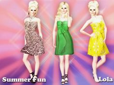 Summer Fun dress by Lola - Sims 3 Downloads CC Caboodle