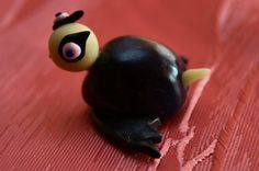 Halloween Vampire Bat fimo Turtle Ornament by Onlymiracles on Etsy, €8.00
