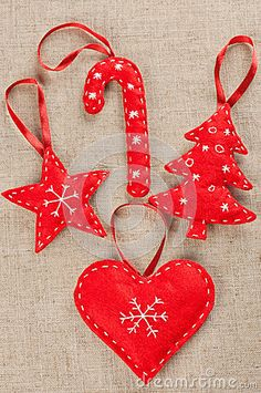 Ideas For Sewing Decor Ideas Christmas Gifts Easy Christmas Decorations, Felt Christmas Ornaments, Handmade Christmas, Christmas Holidays, Felt Decorations, Christmas Tree, Christmas Gifts For Nan, Ideas For Christmas, Ornaments Ideas