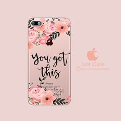 You Got This - Clear TPU iPhone Case / Samsung Case Phone Cover - CasesPhone - - Best Phone Wallpapers, Funny Cell Phone Covers, Iphone Case Covers, Cool Wallpapers For Phones, Phone Wallpapers, Smile Quotes, Samsung Cases, Samsung Galaxy, Galaxies, You Got This