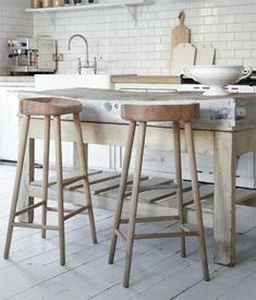 Houten barkruk keuken