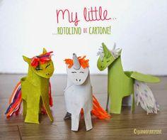 Quandofuoripiove: Riciclare il cartone per far nascere... unicorni! Toilet roll Unicorn