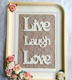 LIVE LAUGH LOVE, wall decor, home decor, country chic, rustic, wedding gift,engagement, home warming, Mother's day,Valentine,nursery decor, - pinned by pin4etsy.com