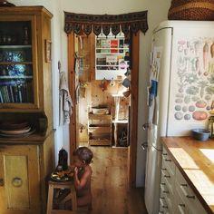 natural wooden homestead kitchen