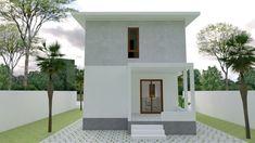 Small Home design Plan with 3 Bedroom - SamPhoas Plan Duplex House Design, Simple House Design, Minimalist House Design, Minimalist Home, Model House Plan, Villa Design, Story House, Home Design Plans, Small House Plans