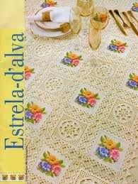 Αποτέλεσμα εικόνας για patrones de manteles cuadrados tejidos a crochet