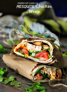 Food and Drink: Healthy Chicken Wrap - Swanky Recipes