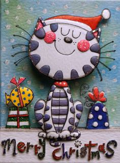made by Kazumi IItaka レイチェル・エレンのカードによる3Dシャドーボックスアート作品