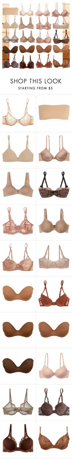 """skintone bras"" by ninamaybaby ❤ liked on Polyvore featuring Cosabella, Commando, Bodas, SPANX, Agent Provocateur, Wacoal, Heidi Klum Intimates, Skarlett Blue, Nubian Skin and La Perla"