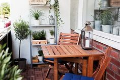 small balcony . wood outdoors