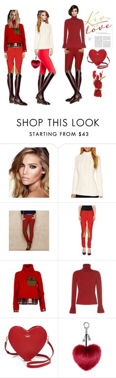 """Valentine Riding looks 2"" by stylemyride on Polyvore featuring KAROLINA, TBA, Charlotte Tilbury, Liz Claiborne, Ralph Lauren Blue Label, Ralph Lauren, Dsquared2, Vilshenko, Kate Spade and women's clothing"
