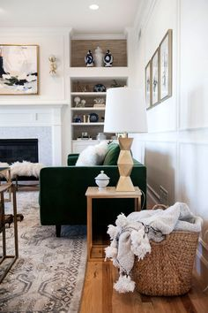 Suburban B's One Room Challenge - Fall 2016 reveal features Karastan's Castine Willow rug from the Euphoria Collection.