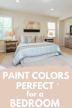 If you are looking for a bedroom paint color that promotes relaxation and calmness, you need to check out these soothing bedroom paint colors. paint colors relaxing 6 Soothing Paint Colors for Bedrooms Calming Bedroom Colors, Soothing Paint Colors, Best Bedroom Colors, Bedroom Paint Colors, Popular Bedroom Colors, Minimalist Bedroom, Modern Bedroom, Bedroom Decor, Bedroom Vintage