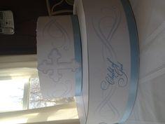 Baptism cupcake stand