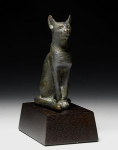 Egyptian Bronze Bastet Figure