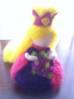 Rockabye Butterfly: A tutorial on how to make a Felted Princess!
