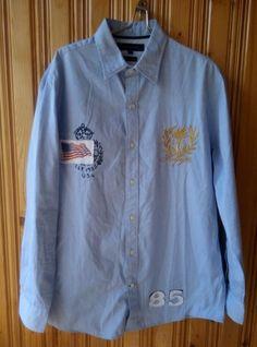 Men's Medium Tommy Hilfiger USA 85 Cotton Shirt