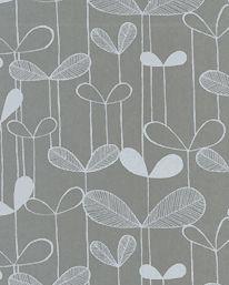 Tapet Saplings Silver/White från MissPrint