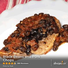 """Black Beans and Pork Chops   """"I could not believe not only how simple this recipe was to make, but how all of the flavors blended together to make a stunning recipe. My husband, who says he doesn't like pork chops, couldn't get enough."""" -love2read"""