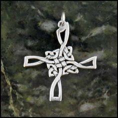 Sterling Silver St Brigid Open Cross Necklace SW370
