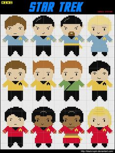 Star Trek TOS character graphs