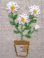 Hand embroidery Greeting Card by Peacockbox