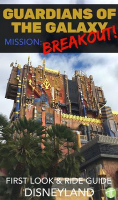 Guardians of the Galaxy -Mission: BREAKOUT has finally arrived to Disneyland for the Summer of Heroes in Disney California Adventure. Ride spoilers & tips for avoiding the lines. Disneyland Secrets, Disneyland Vacation, Disney Vacation Club, Disneyland California, Disney California Adventure, Disney Vacations, Disneyland 2016, Disneyland Ideas, California Christmas