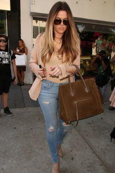 Khloe Kardashian Shopping at Kitson with Kris and Kylie Jenner
