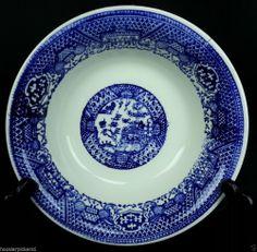 "Blue Willow Ware Unmarked 6 3/4"" diameter 1 7/8"" deep bowl"