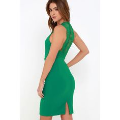 Ready Set Green Lace Midi Dress ($49) ❤ liked on Polyvore featuring dresses, green, midi dress, sheer lace dress, green lace cocktail dress, white sleeveless dress and lace cocktail dress
