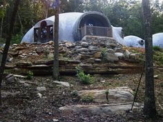 Sweet Dome Alabama is the Monolithic Dome home of Beverly and Kenneth Garcia in New Hope, Alabama. (Beverly Garcia)