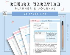 Travel Planner Printable X  Pages Vacation Planner Trip