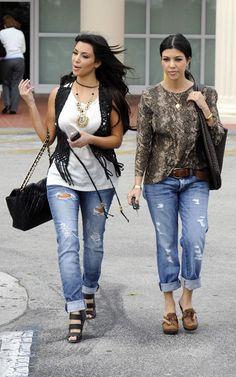 Kim & Kourtney Kardashian...I don't care what any body says...I LOVE them!