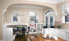great architectural details  bankette any where!  Kitchen with Fancy Breakfast Nook Ideas