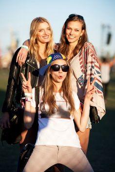 style & attitude. Lily Donaldson, Karlie Kloss & Cara Delevinge