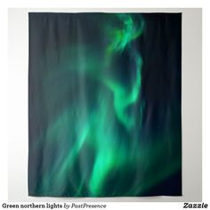 Green northern lights tapestry