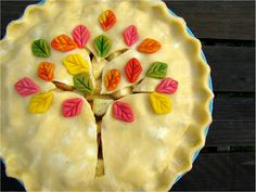 Pretty pie decoration. Did this with an apple pie for thanksgiving, everyone loved it!